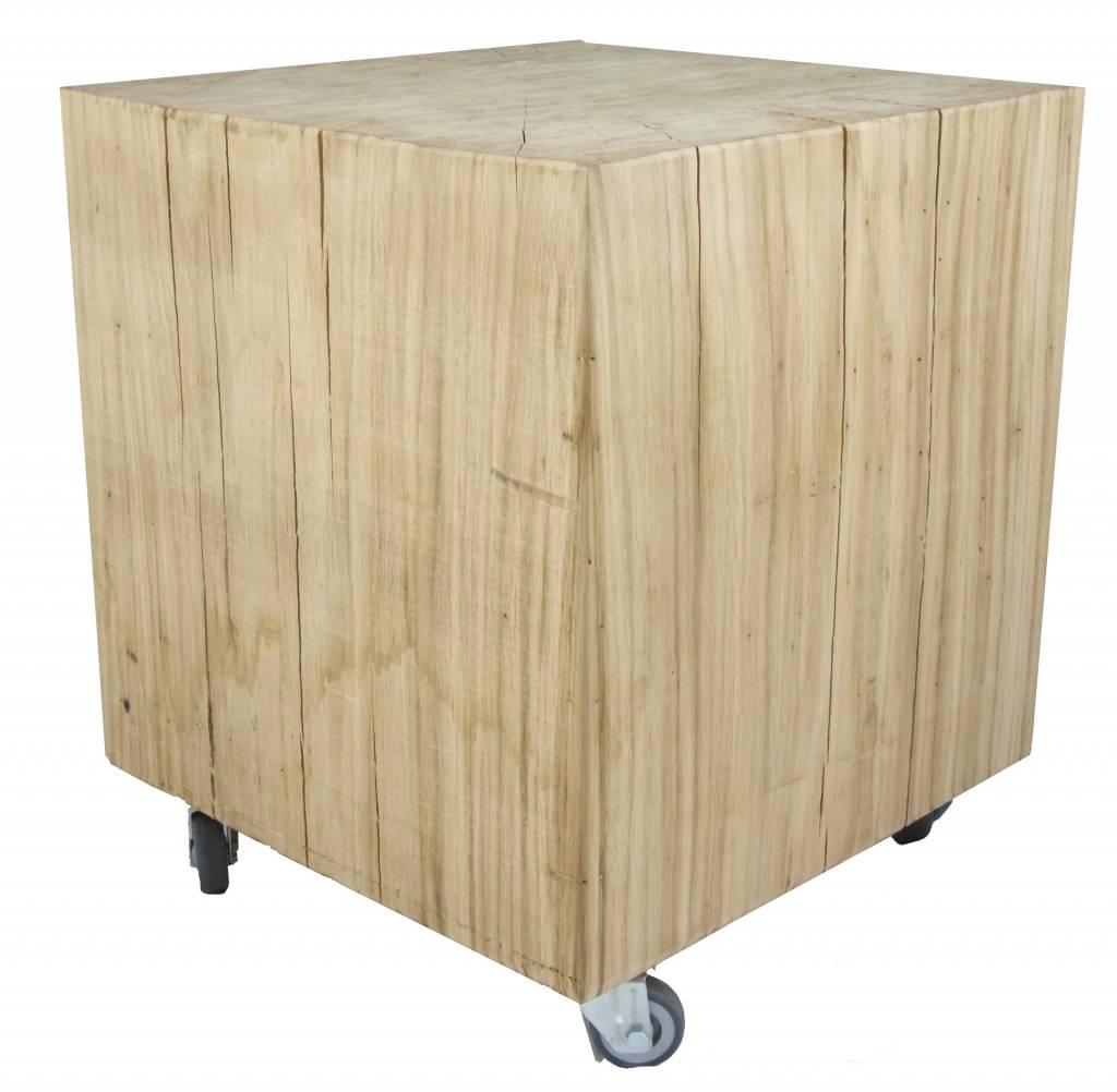 Eiken kubus tafel - Leefhuus