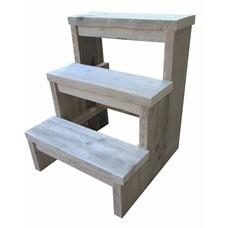 Trapje van steigerhout - 55 cm hoog