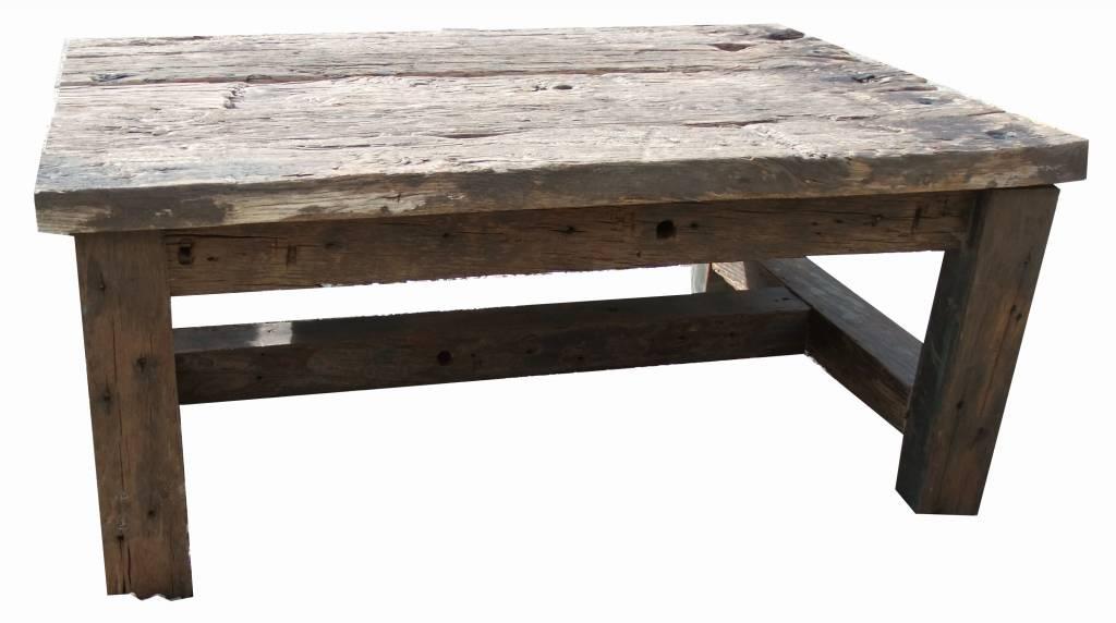 Voorkeur Salontafel van oude houten balken - Leefhuus @FA79