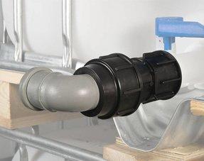 IBC Anschluss für Rohre