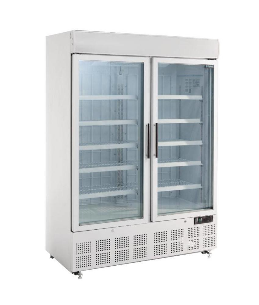 Polar Polar display vriezer met lichtkoof 920ltr