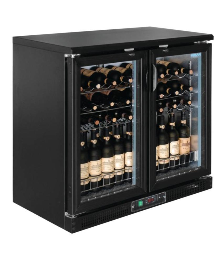Polar Polar horizontale wijnkoeling met klapdeuren