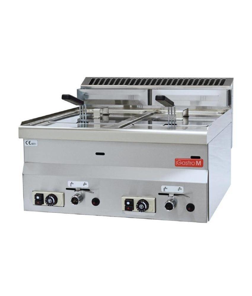 GASTRO-M Gastro M gas friteuse 2x 8L 60/60 FRG