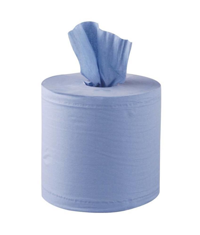Jantex Jantex centrefeed handdoekrollen blauw 6 rollen 6 stuks