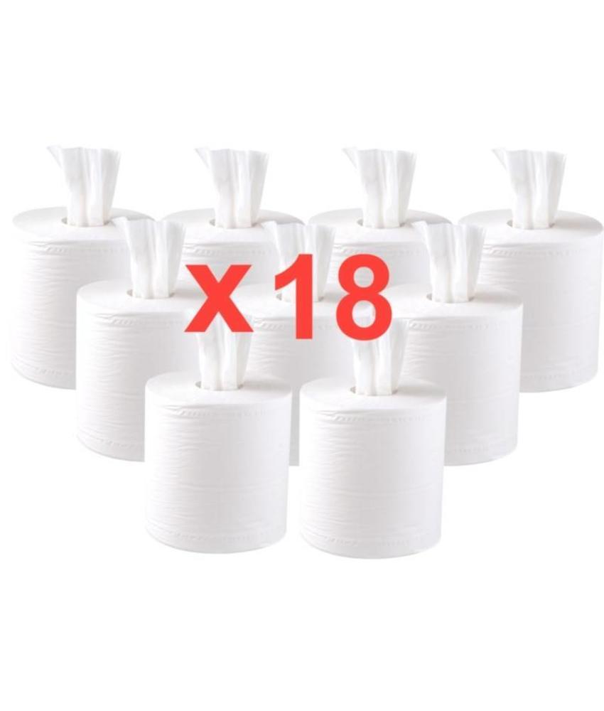 Jantex centrefeed handdoekrollen wit 18 rollen 18 stuks