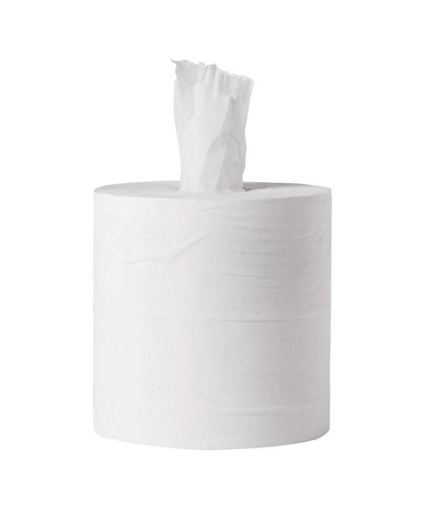 Jantex Jantex centrefeed handdoekrollen wit 6 rollen 6 stuks