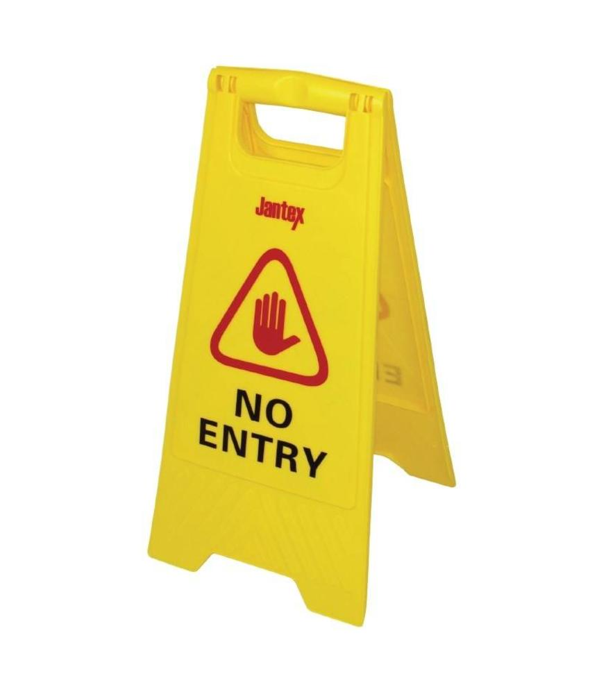 "Jantex Jantex waarschuwingsbord ""No entry"""