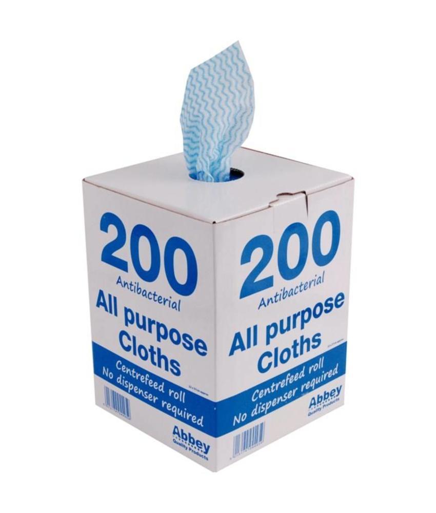 Jantex Jantex antibacteriële multifunctionele doekjes blauw 200 stuks