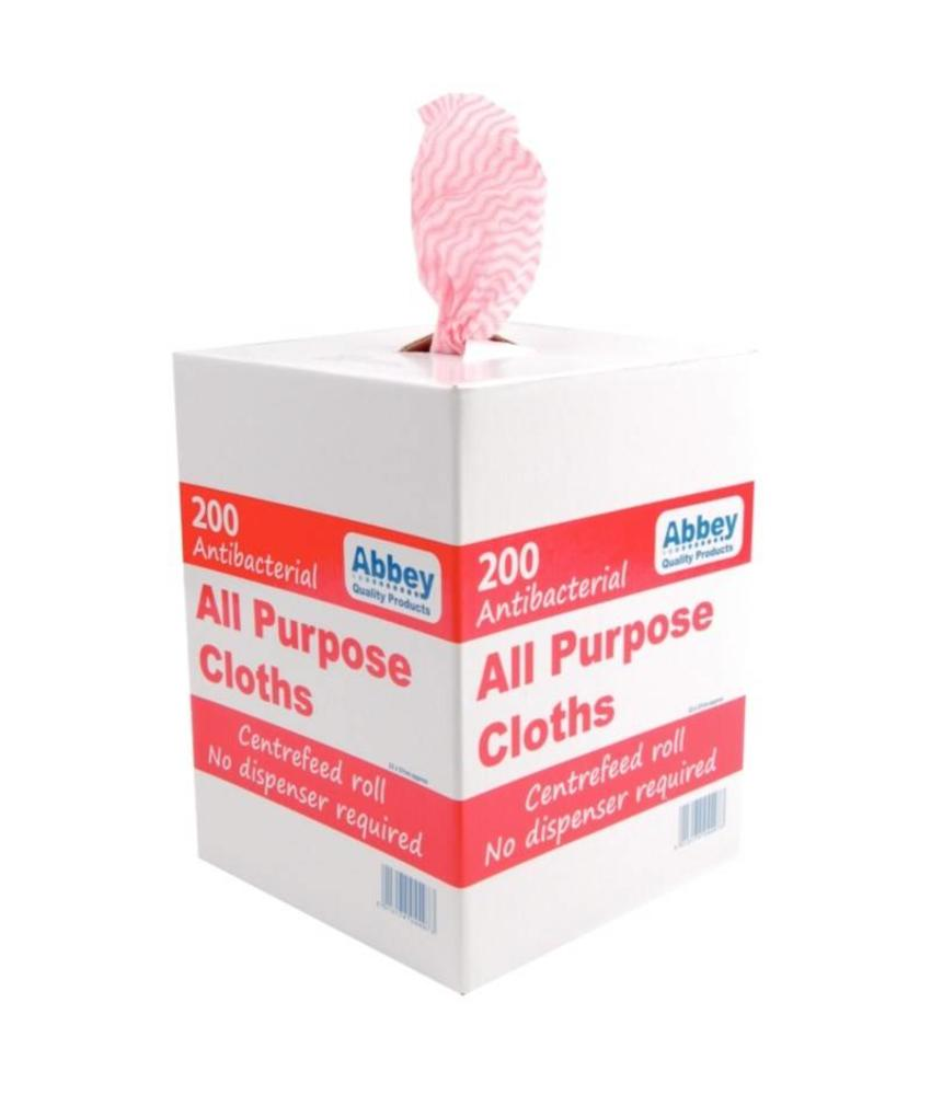 Jantex antibacteriële multifunctionele doekjes rood 200 stuks