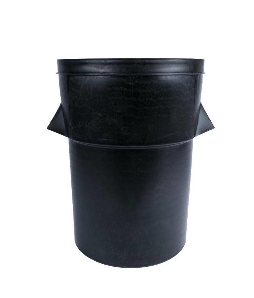 Zwarte kunststof afvalbak 94ltr