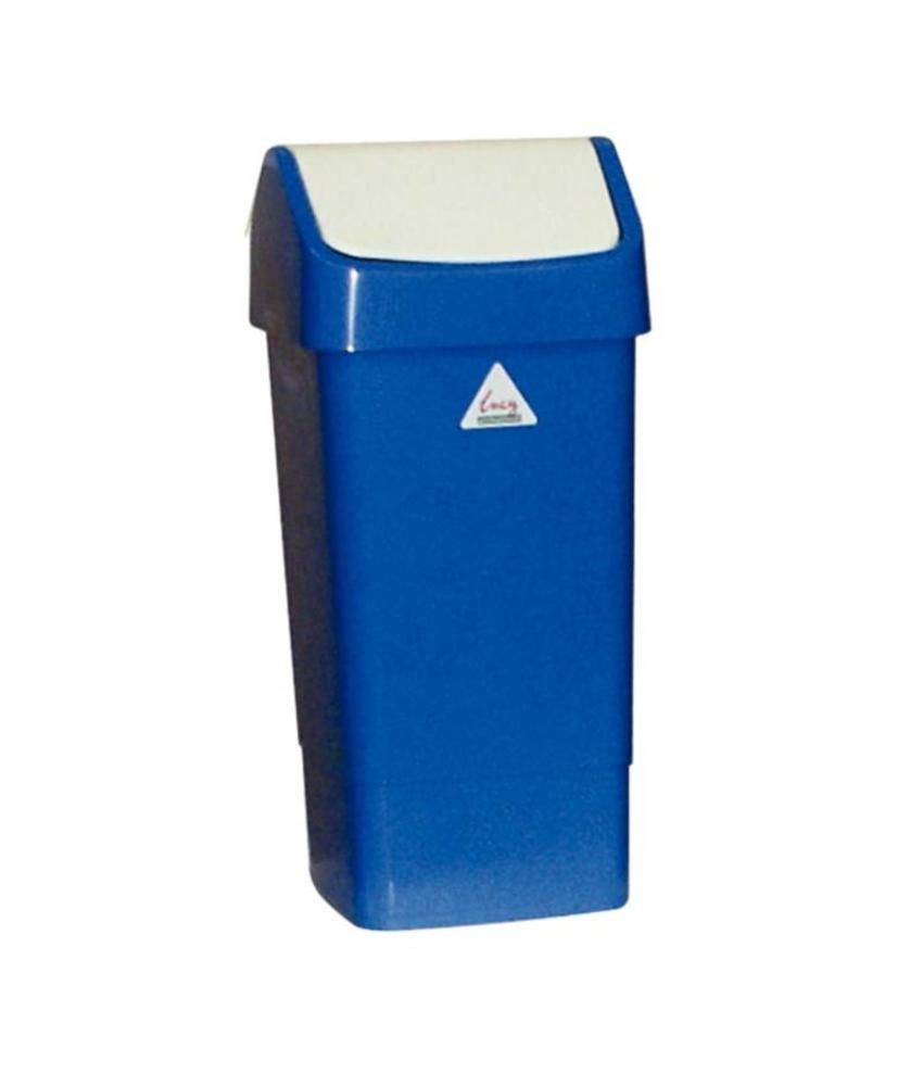 SCOTT YOUNG SYR afvalbak met schommeldeksel blauw