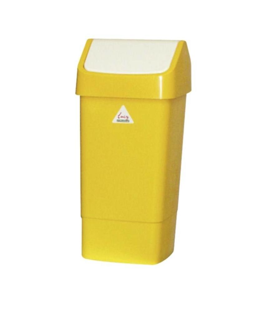 SCOTT YOUNG SYR afvalbak met schommeldeksel geel