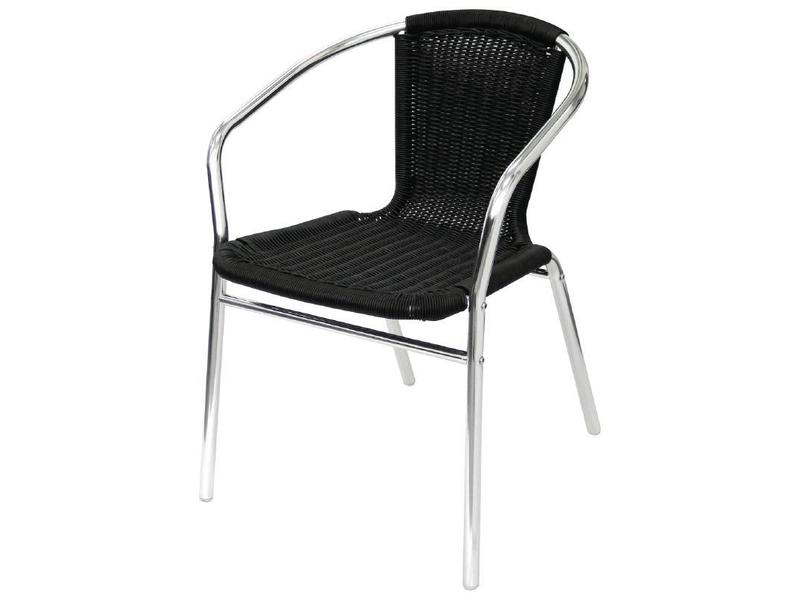 Rotan Stoel Zwart : Bolero bolero aluminium en rotan stoel zwart 4 stuks v supply