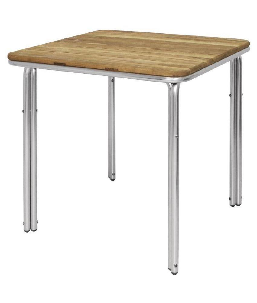 Bolero Bolero vierkante essen en aluminium tafel 70cm