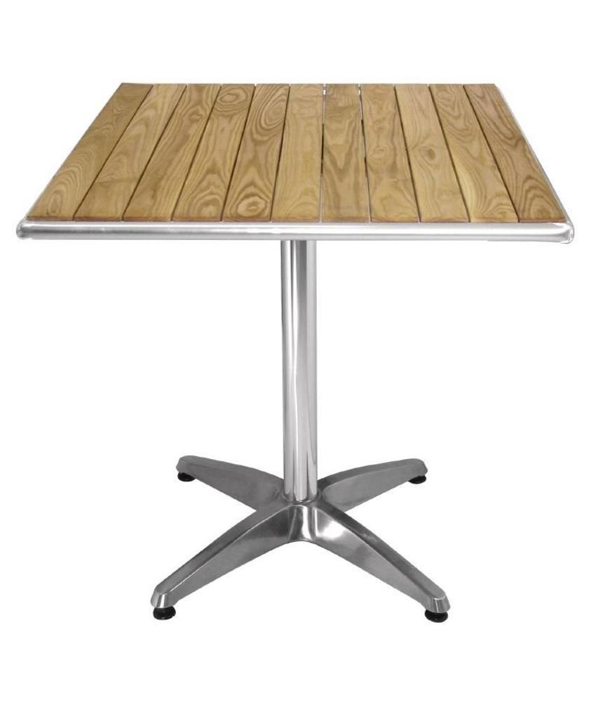 Bolero Bolero vierkante tafel met essenhouten blad 60cm