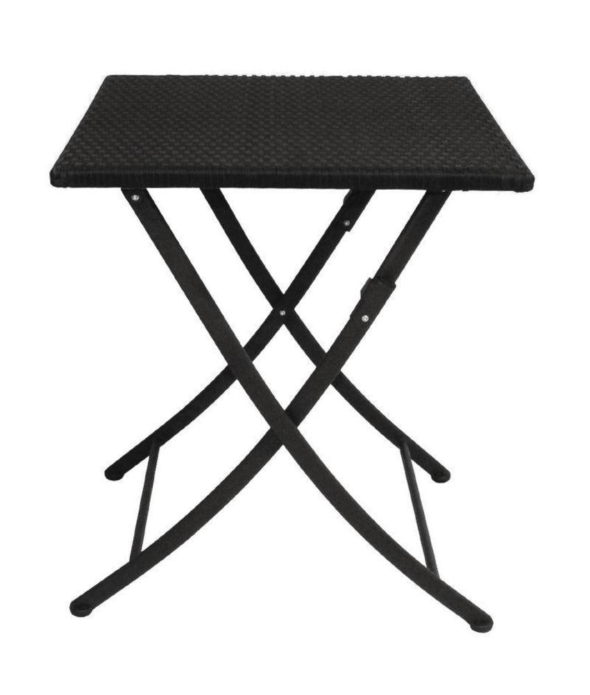 Bolero Bolero vierkante opklapbare PE rotan tafel 60cm