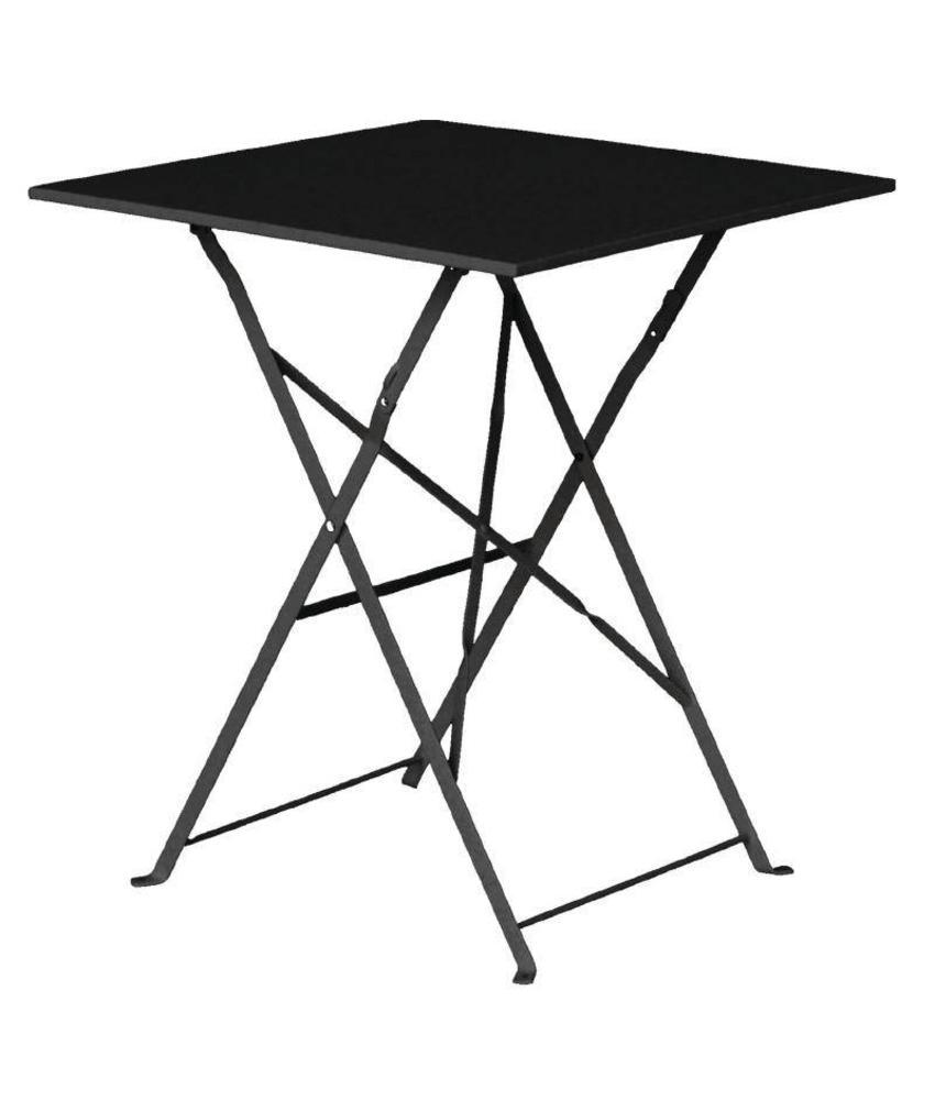 Bolero Bolero vierkante opklapbare stalen tafel zwart 60cm