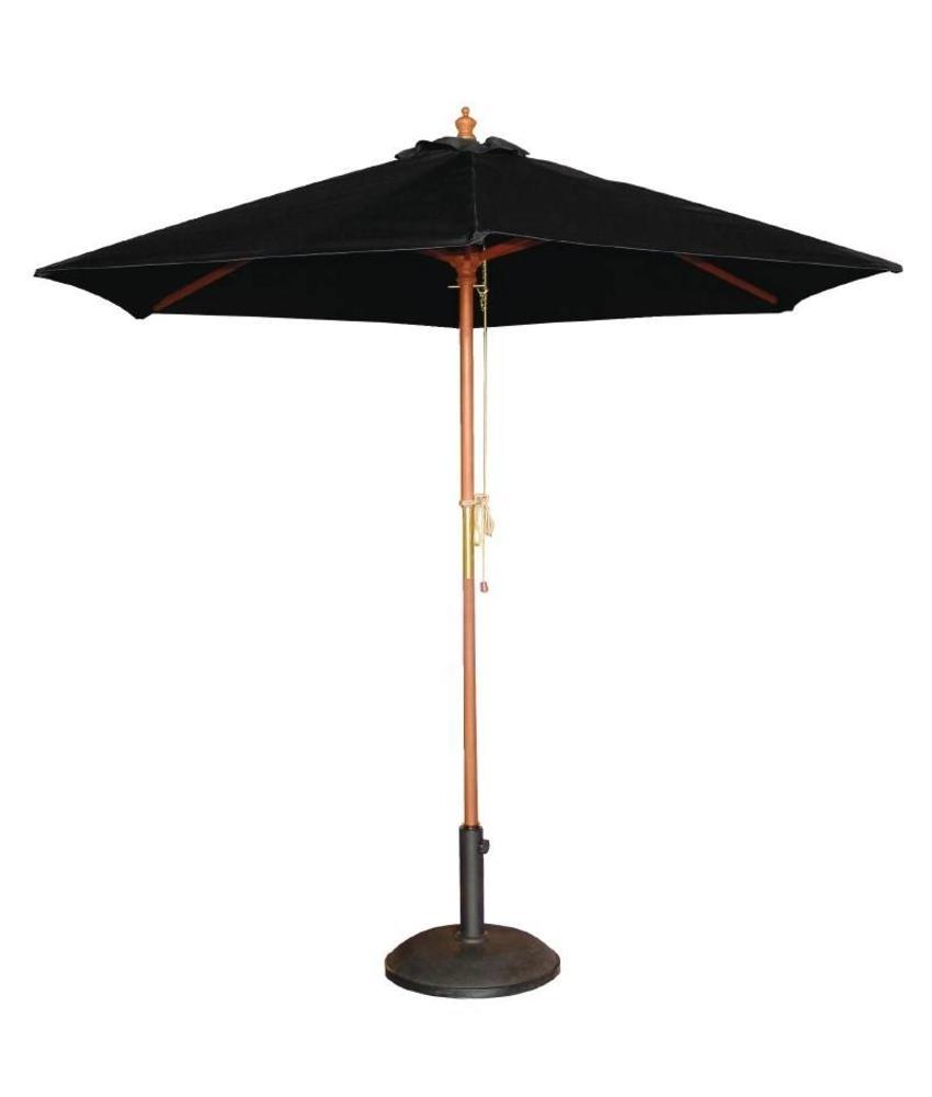 Bolero Bolero ronde zwarte parasol 2,5 meter