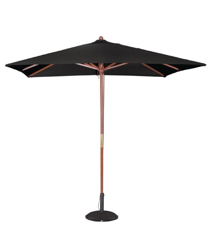 Bolero Bolero vierkante zwarte parasol 2,5 meter