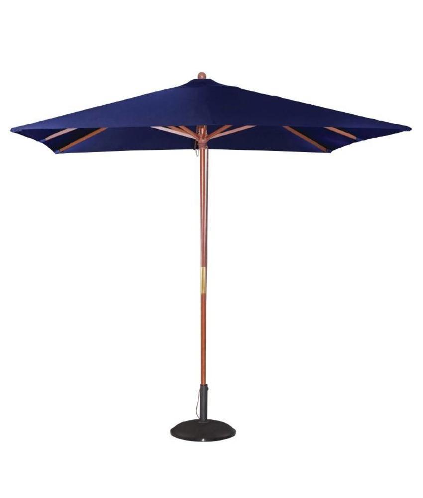 Bolero Bolero vierkante donkerblauwe parasol 2,5 meter