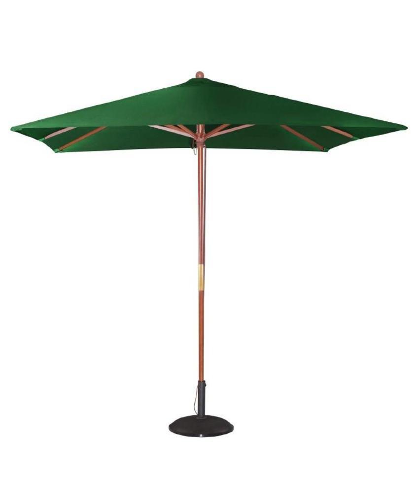 Bolero Bolero vierkante groene parasol 2,5 meter