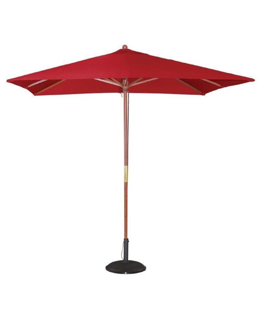 Bolero Bolero vierkante rode parasol 2,5 meter