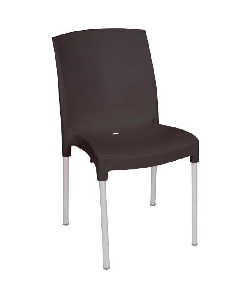 Bolero Bolero stapelbare zwarte stoelen 4 stuks