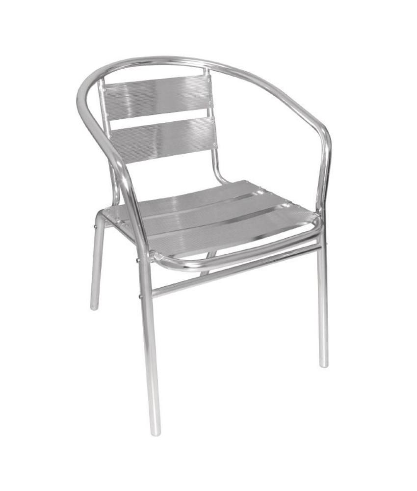 Bolero Bolero stapelbare aluminium stoel (4 stuks) 4 stuks