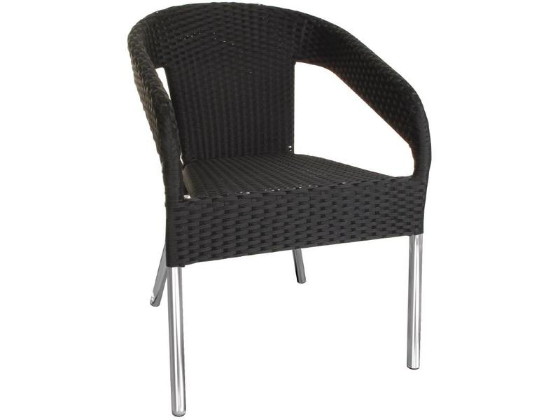 Rotan Stoel Zwart : Bolero bolero kunststof rotan stoel zwart 4 stuks v supply