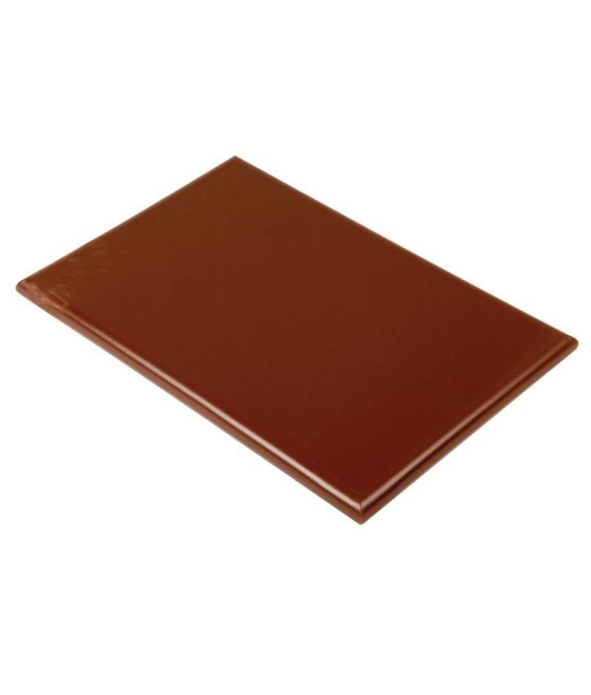 Hygiplas Hygiplas kleurcode snijplank bruin 450x300x25mm