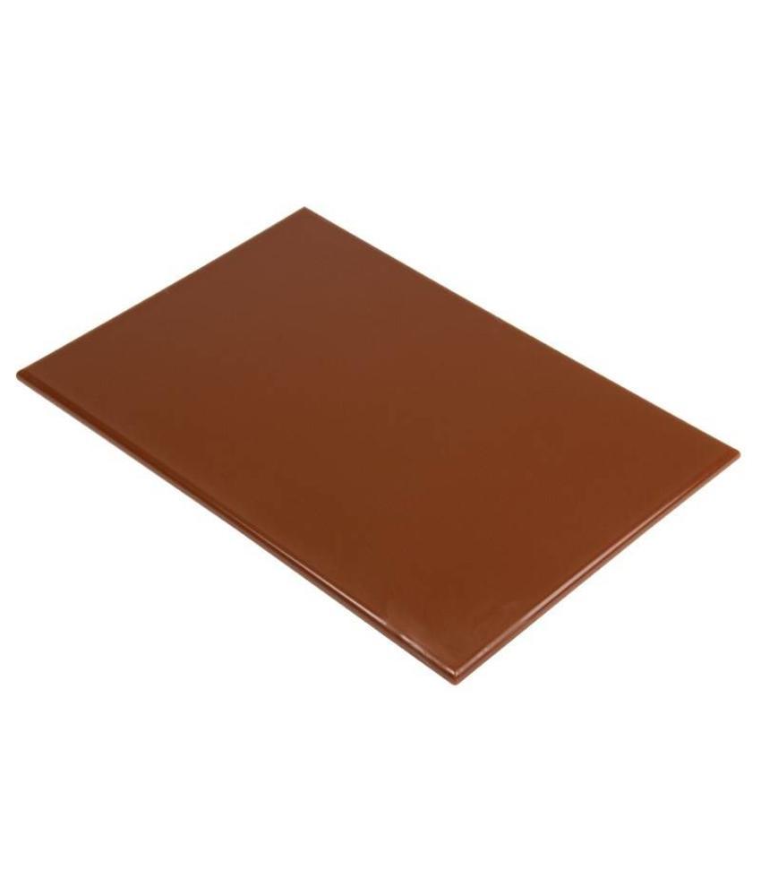 Hygiplas Hygiplas kleurcode snijplank bruin 600x450x12mm