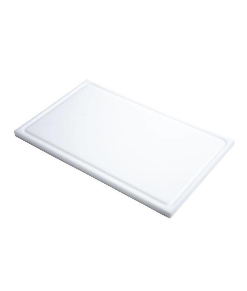 GASTRO-M Gastro M GN1/2 HDPE snijplank met sapgeul wit 15mm