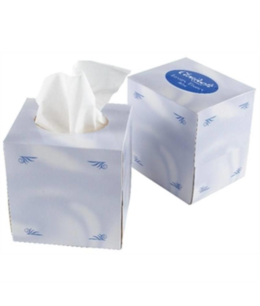 Cloudsoft witte tissues voor vierkante tissue box CC493 24 stuks