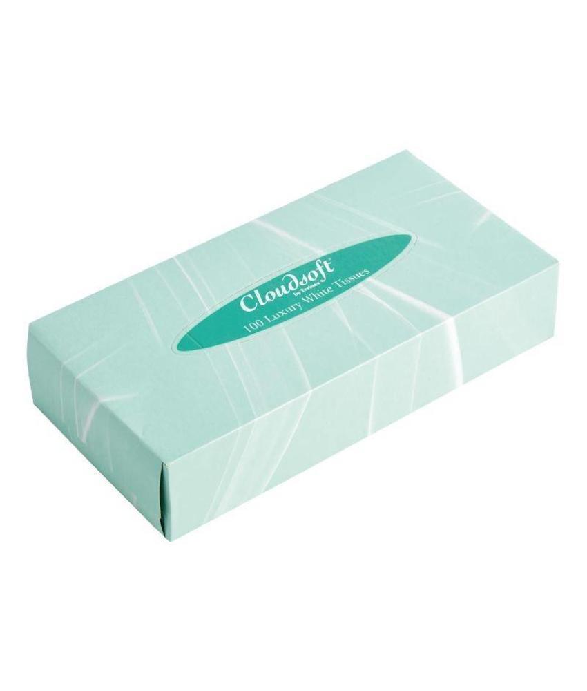 Cloudsoft witte tissues voor rechthoekige tissue box CF121 36 stuks