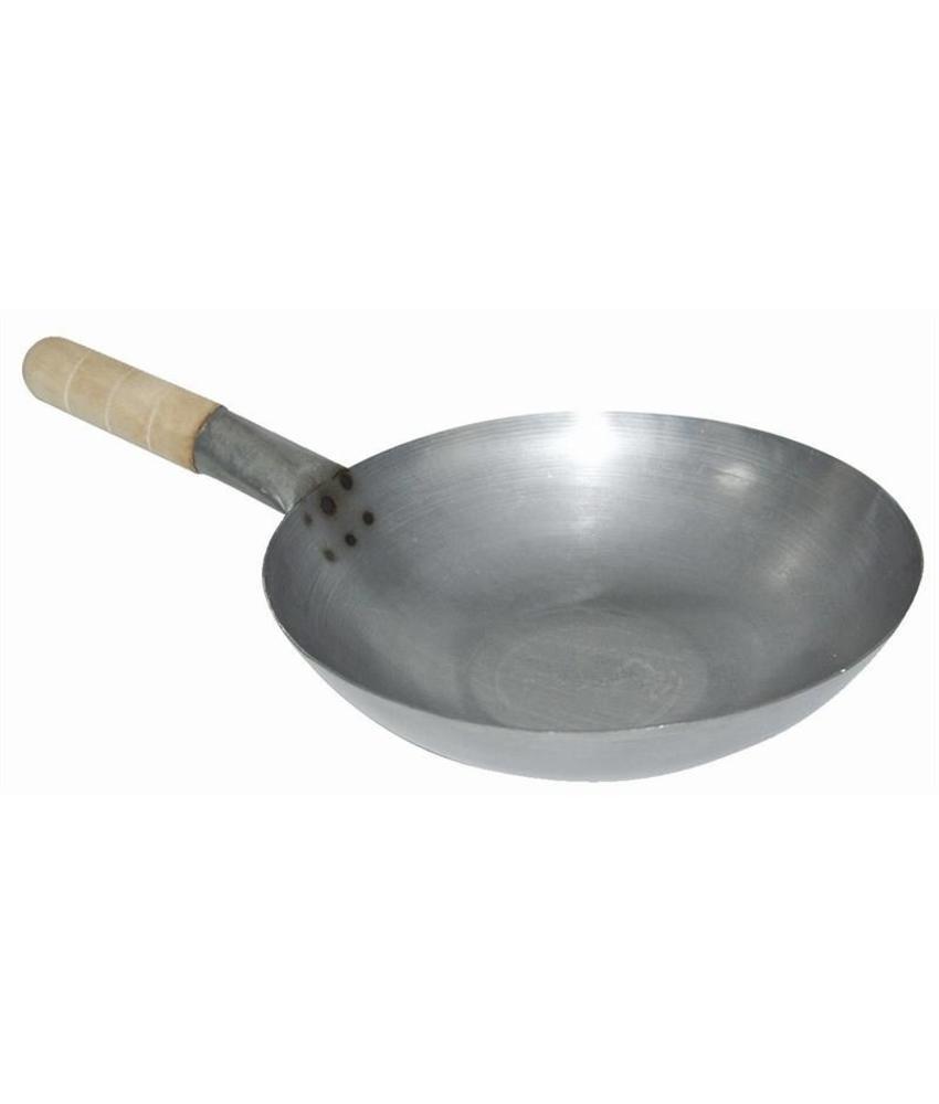 Vogue zacht stalen wok met ronde bodem 35,5cm