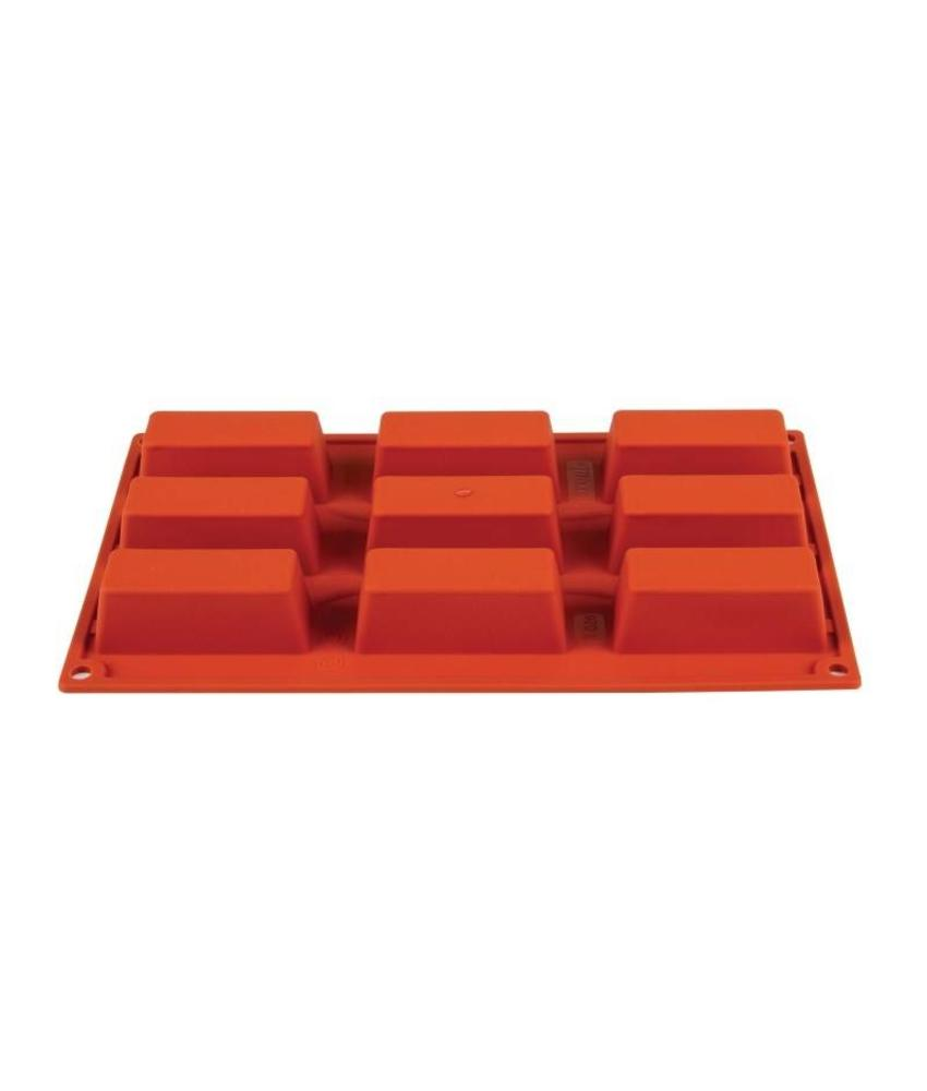 PAVONI ITALIA Pavoni Formaflex siliconen bakvorm 9 mini-cakes