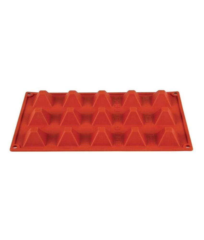 PAVONI ITALIA Pavoni Formaflex siliconen bakvorm 15 piramides
