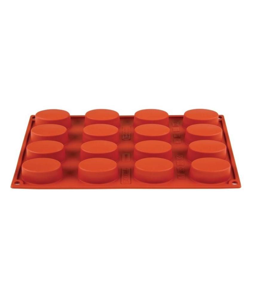 PAVONI ITALIA Pavoni Formaflex siliconen bakvorm 16 ovalen