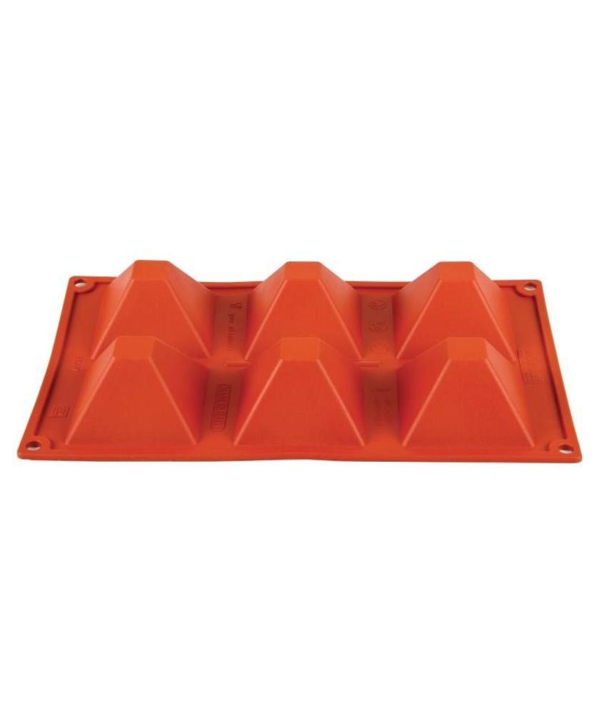 PAVONI ITALIA Pavoni Formaflex siliconen bakvorm 6 piramides