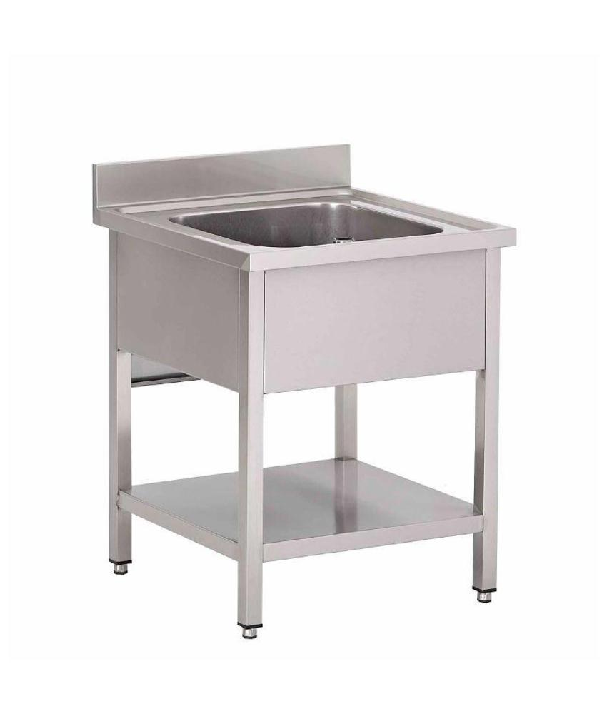 Gastro M Gastro M RVS spoeltafel met onderblad en achteropstand