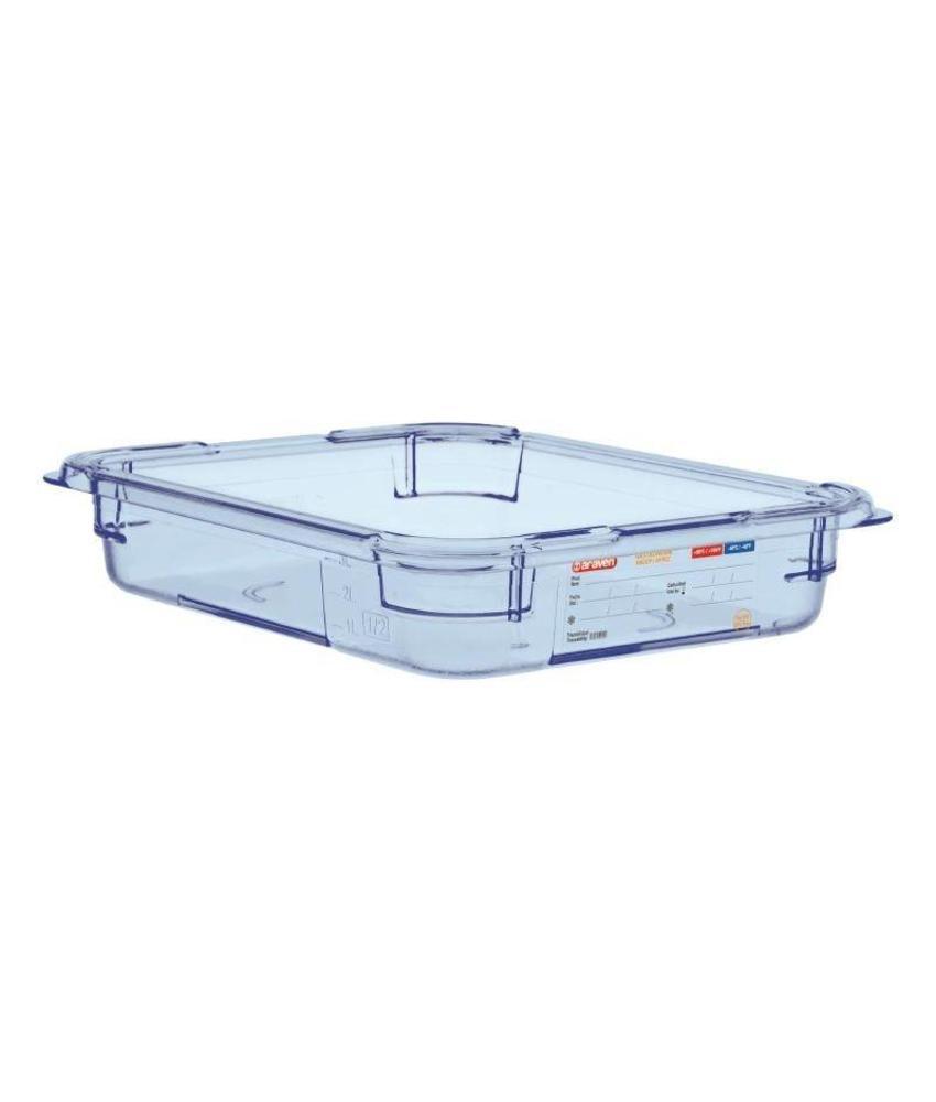 Araven Araven ABS blauwe GN1/2 voedseldoos 65mm