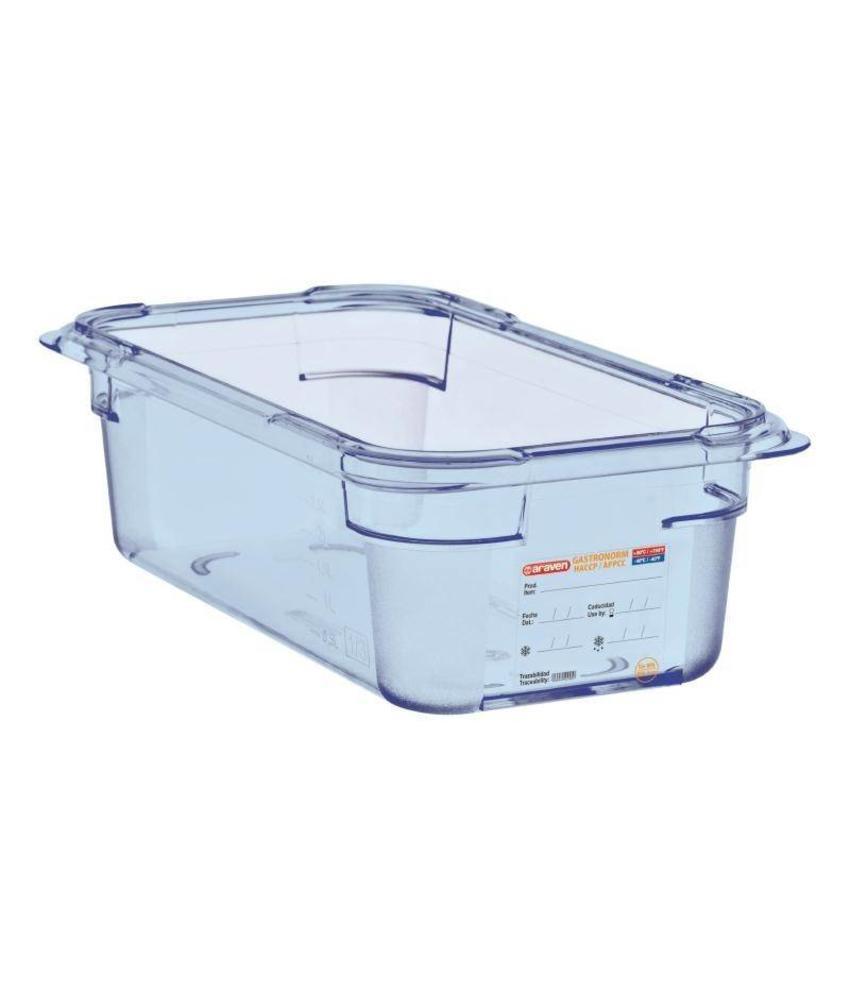 Araven Araven ABS blauwe GN1/4 voedseldoos 100mm