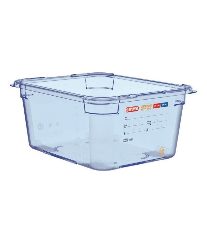 Araven Araven ABS blauwe GN1/2 voedseldoos 150mm