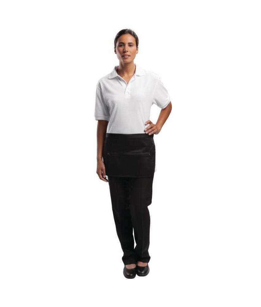 Whites Chefs Clothing Whites geldschort met zak en ritssluiting zwart
