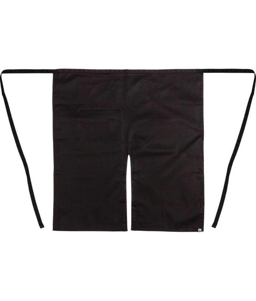 Chef Works Uniform Works bistro sloof met split zwart