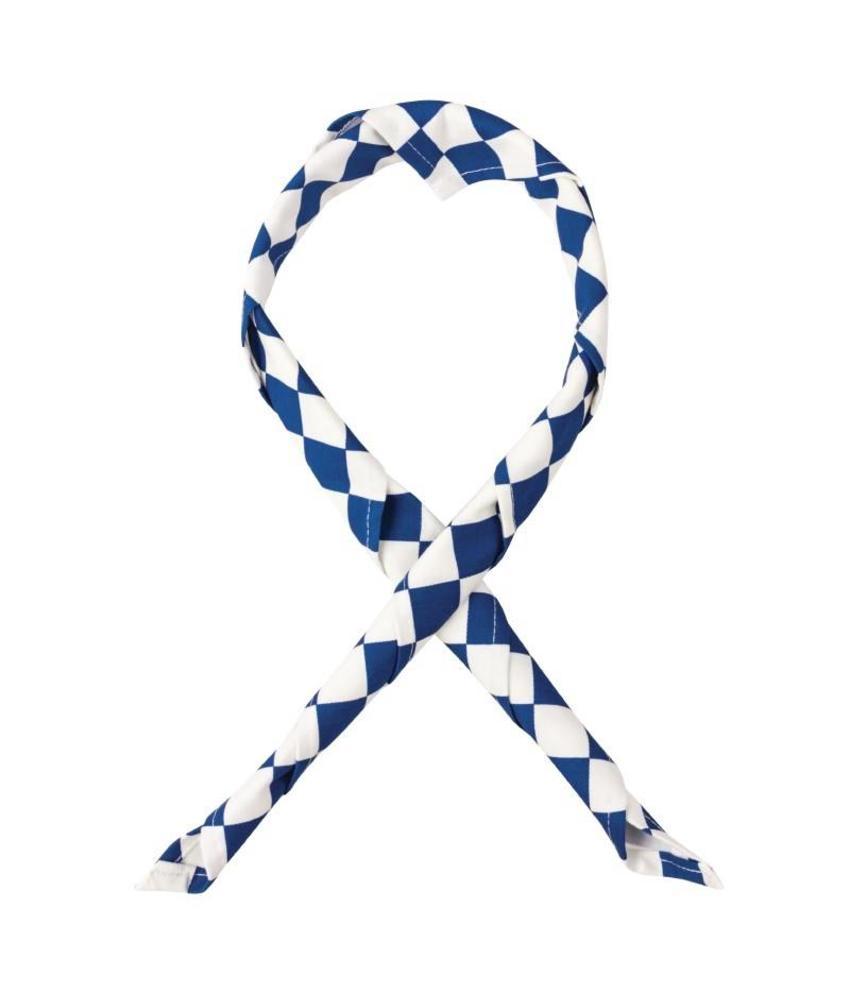 Whites halsdoek blauw-wit geruit