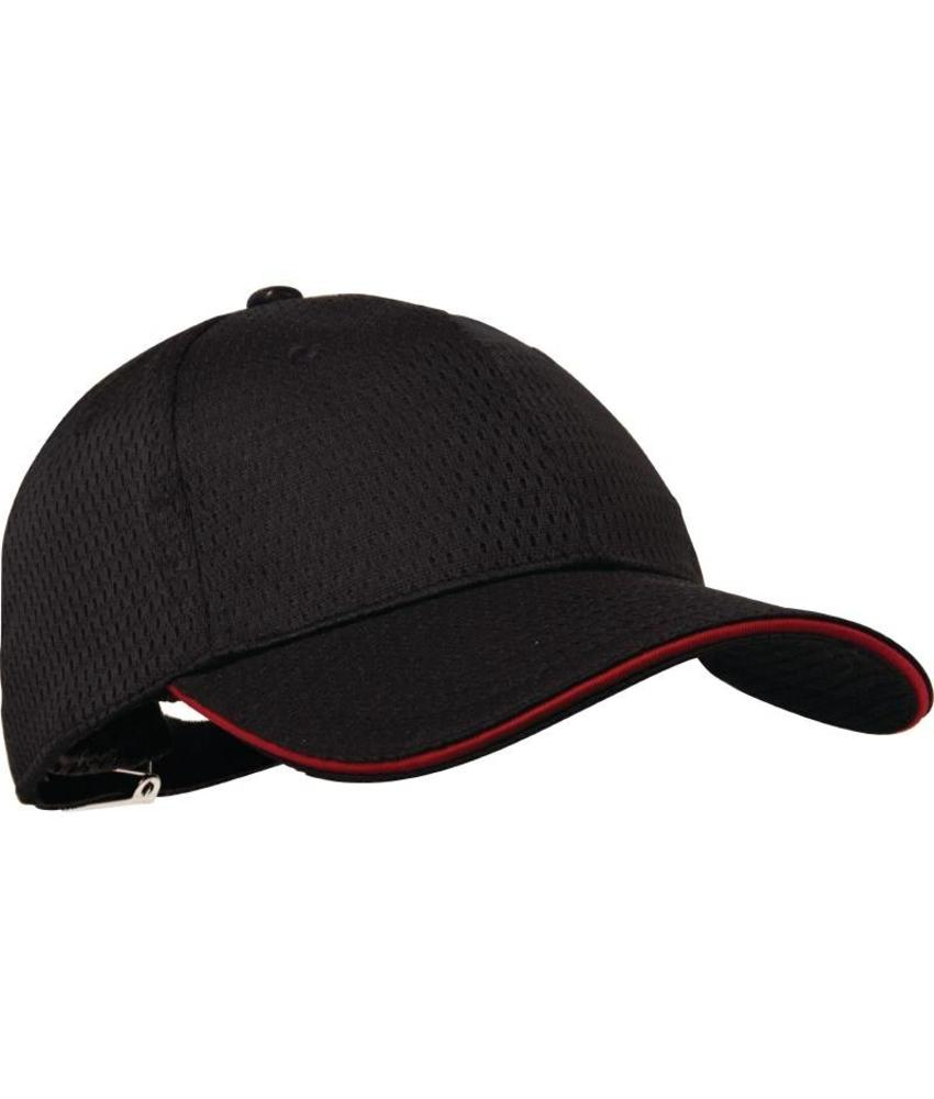 Chef Works Colour by Chef Works Cool Vent baseball cap zwart en rood