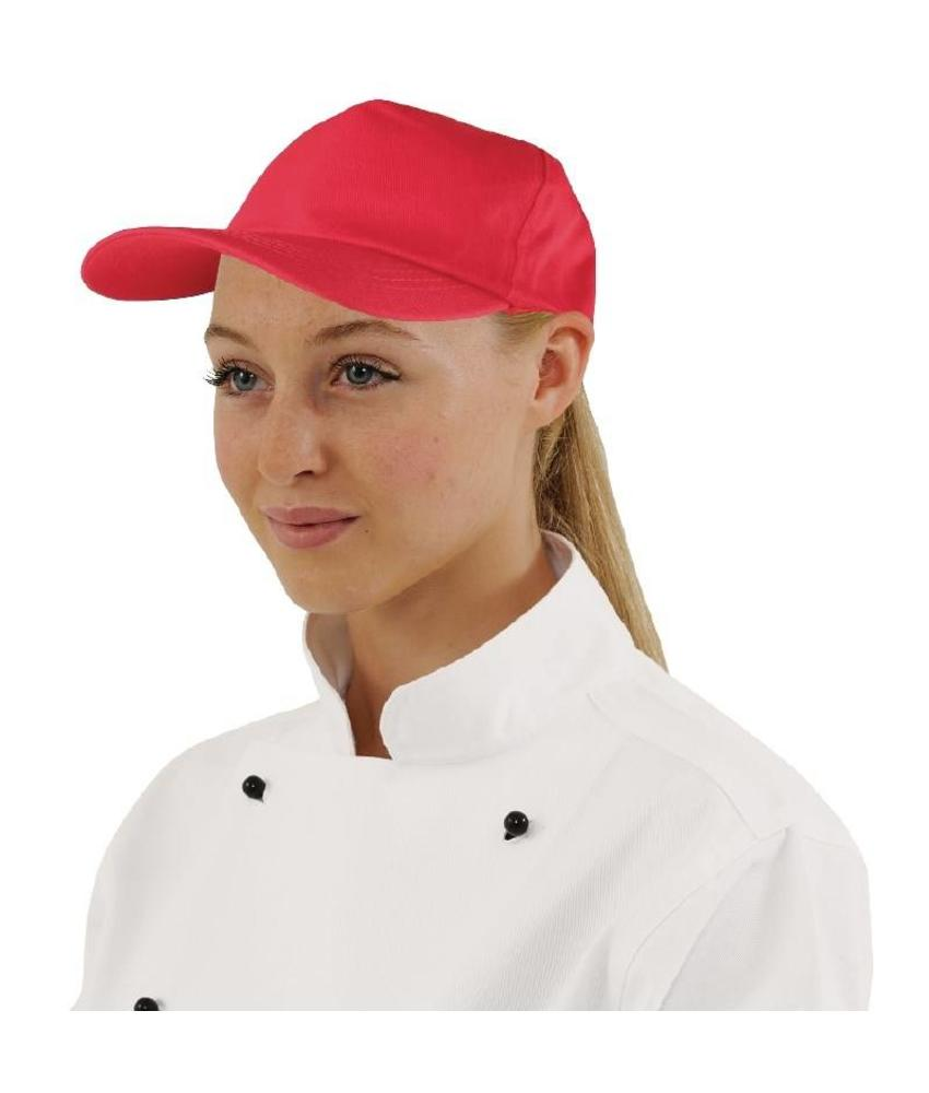 WHITES CHEFS APPAREL Whites baseball cap rood