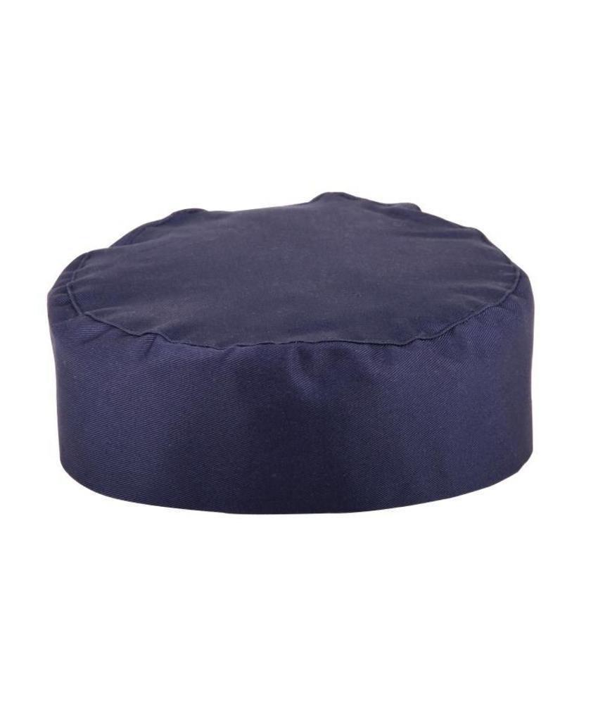 WHITES CHEFS APPAREL Whites skull cap donkerblauw