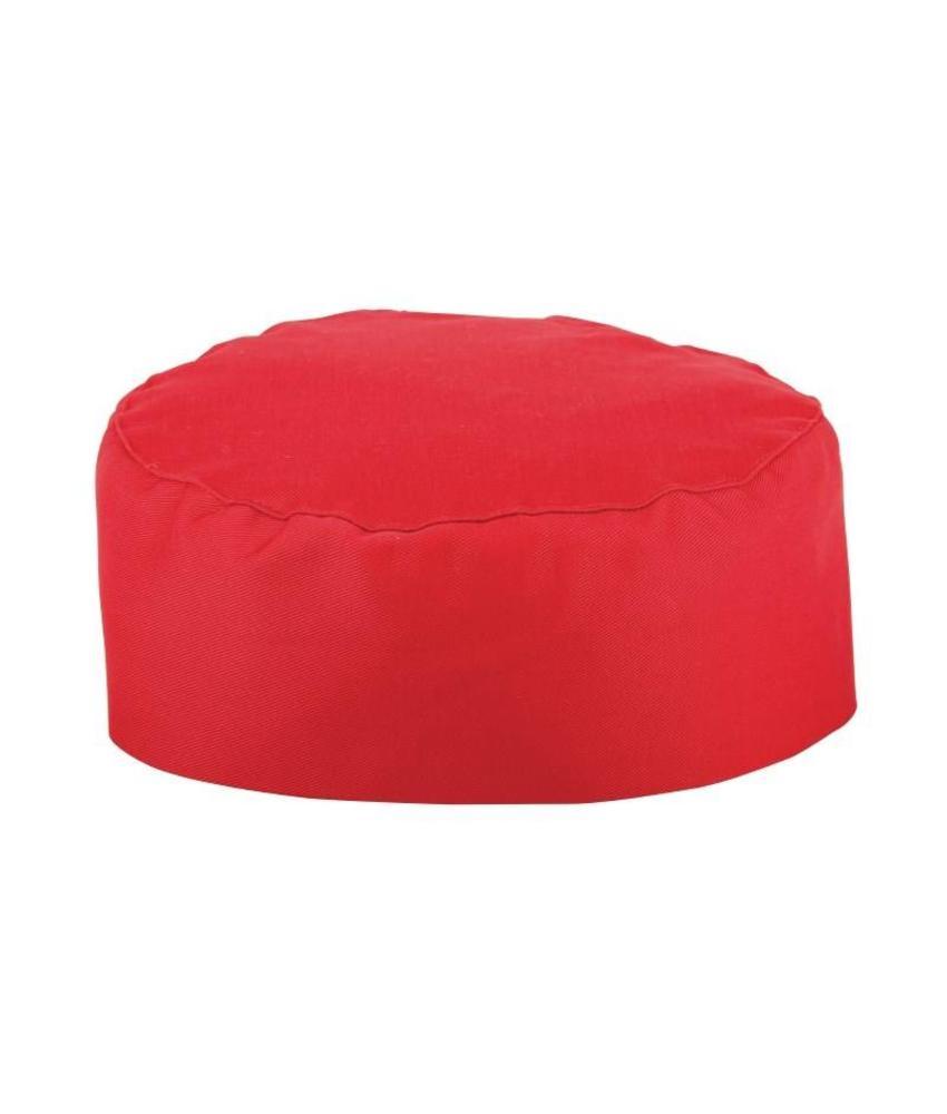 WHITES CHEFS APPAREL Whites skull cap rood